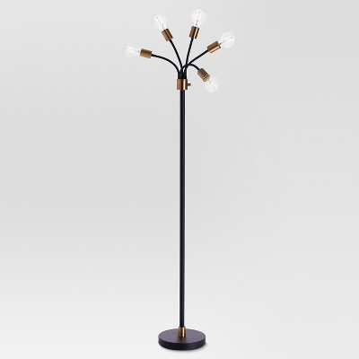 Exposed Bulb Multi-Head Floor Lamp Brass Lamp Only - Project 62™