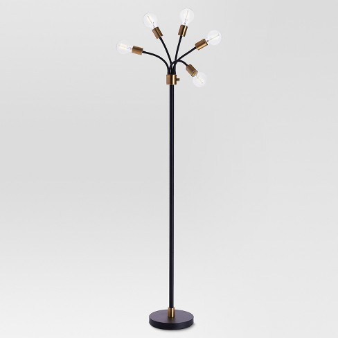 Exposed Bulb Multi-Head Floor Lamp Brass - Project 62™ - image 1 of 2