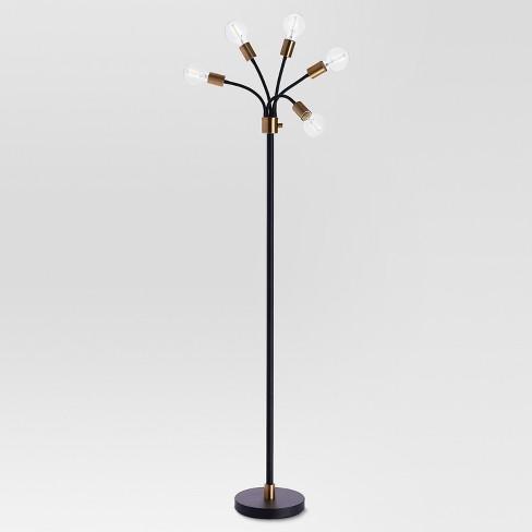 Exposed Bulb Multi Head Floor Lamp Brass Threshold Target