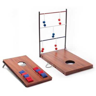 Sport Squad 2-in-1 Indoor/Outdoor Cornhole and Ladder Toss Game Set