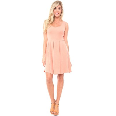Women's Crystal Fit and Flare Dress - White Mark