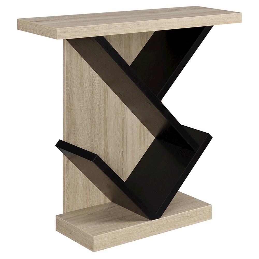 Newport Bistro Console Table White/Black Medium Convenience Concepts