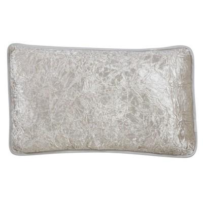 "12""x20"" Crushed Velvet Pillow Cover Ivory - SARO Lifestyle"