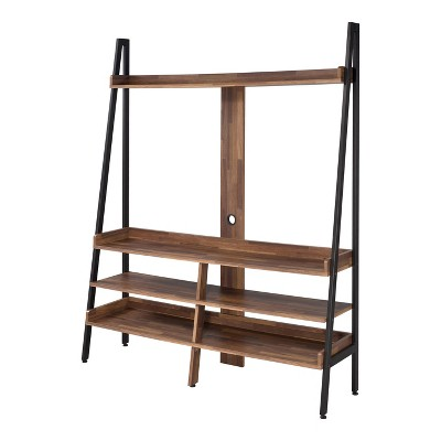 """60"""" Yipsil Open Shelf TV Stand Black - HOMES: Inside + Out"""