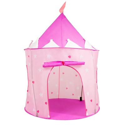 Toy Time Kids' Foldable Popup Princess Castle Play Tent With Carrying Bag - Pink