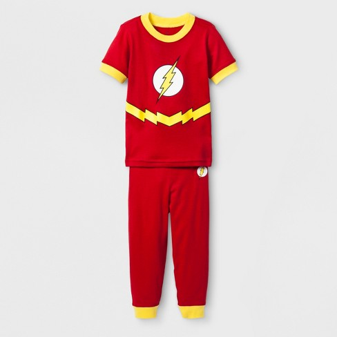 d2ec1413c1 Toddler Boys  DC Comics The Flash 2pc Tight Fit Long Sleeve Pajama Set - Red
