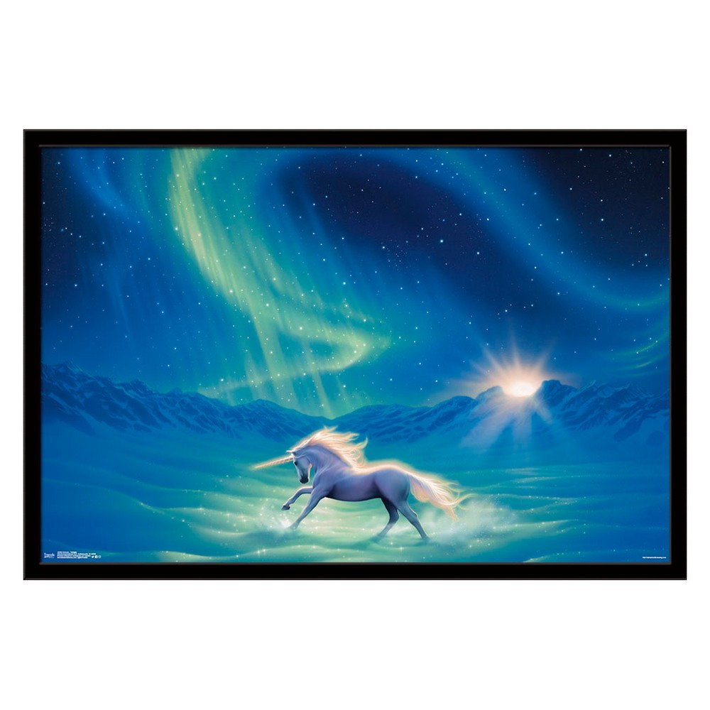 Unicorn - Twilight Framed Poster Trends International, Multi-Colored