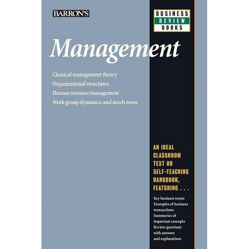 Management - (Barron's Business Review) 5 Edition by  Patrick J Montana & Bruce H Charnov (Paperback) - image 1 of 1