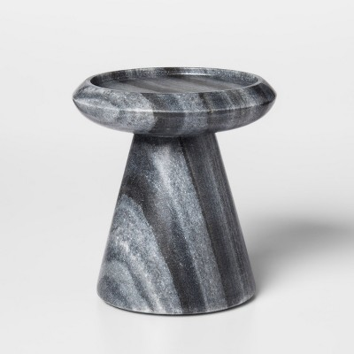 Marble Pillar Candle Holder Small - Gray - Project 62™