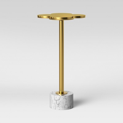 Rosenia Brass Petal Table with Marble Base Small - Opalhouse™