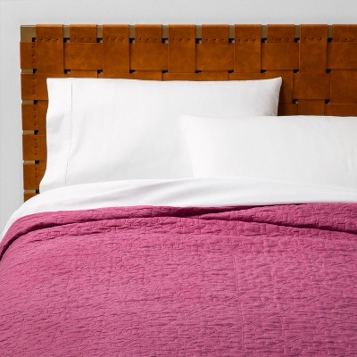Full/Queen Garment Washed Quilt Magenta - Opalhouse™