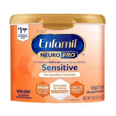Enfamil NeuroPro Sensitive Non-GMO Infant Formula Powder - 19.5oz