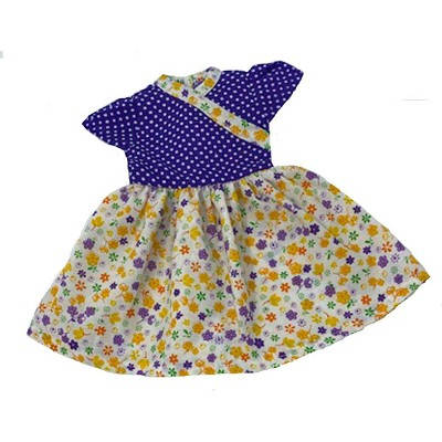 Doll Clothes Superstore Flowers And Dot Print Dress Fits 14 Inch Dolls Like Wellie Wisher