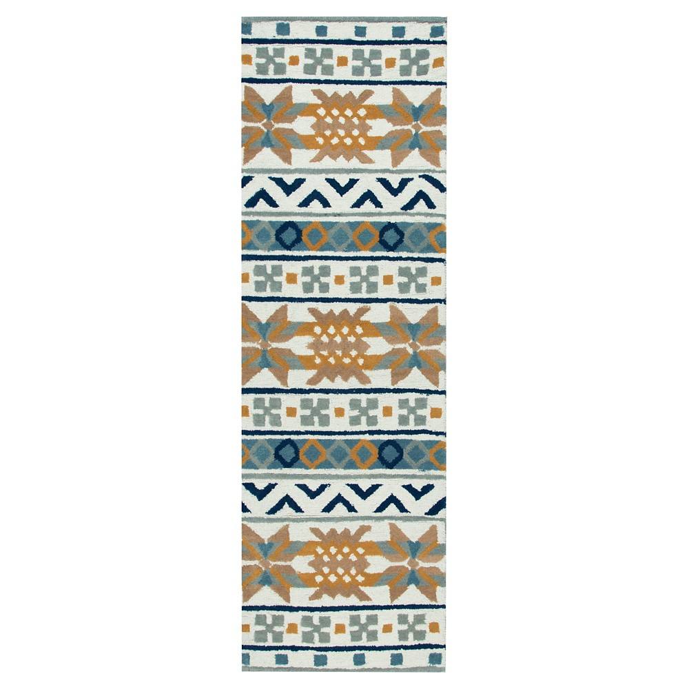 2'6X8' Tribal Design Runner Cream (Ivory) - Rizzy Home