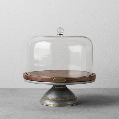 Wood & Metal Covered Cake Stand - Hearth & Hand™ with Magnolia - image 1 of 2