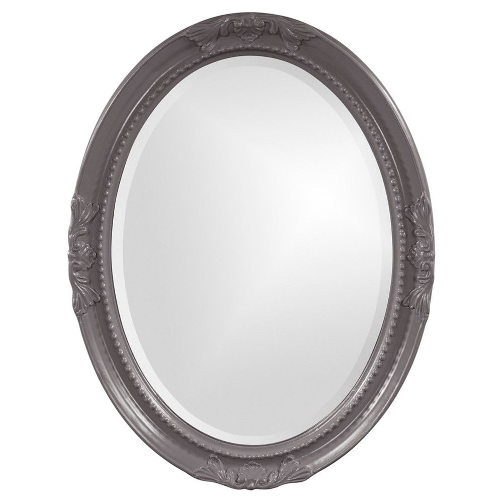 Image of Howard Elliott - Queen Ann Charcoal Gray Mirror, Charcoal Heather