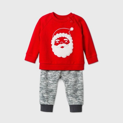 Baby Santa Top & Bottom Set - Cat & Jack™ Red 3-6M