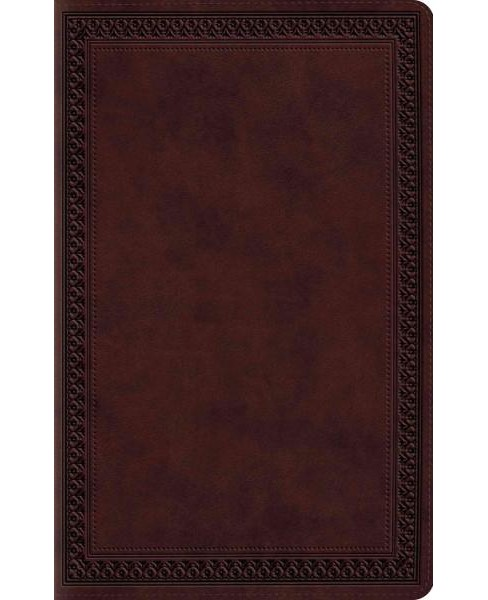 Holy Bible : English Standard Version, TruTone, Mahogany, Border (Large Print) (Paperback) - image 1 of 1