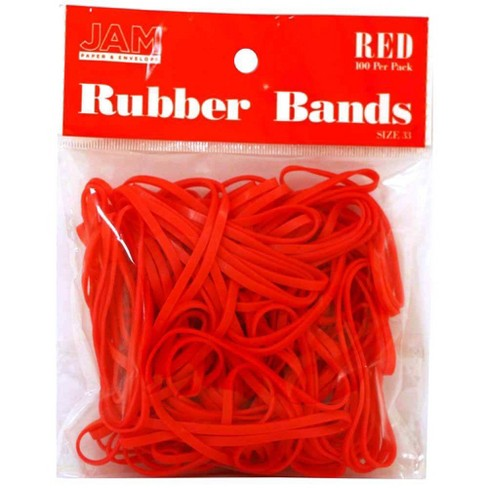 JAM Paper 100pk Colorful Rubber Bands - Size 33 - Red - image 1 of 4