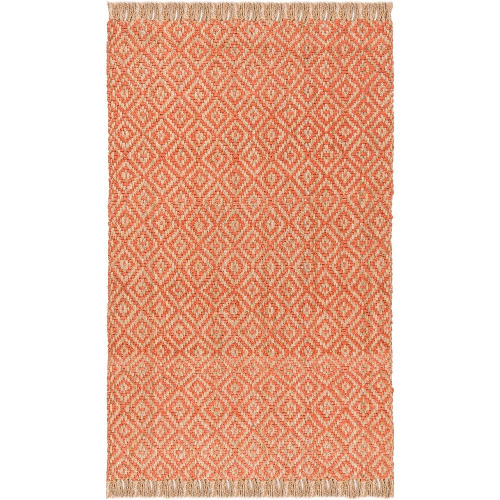8'X10' Geometric Woven Area Rug Orange/Natural - Safavieh