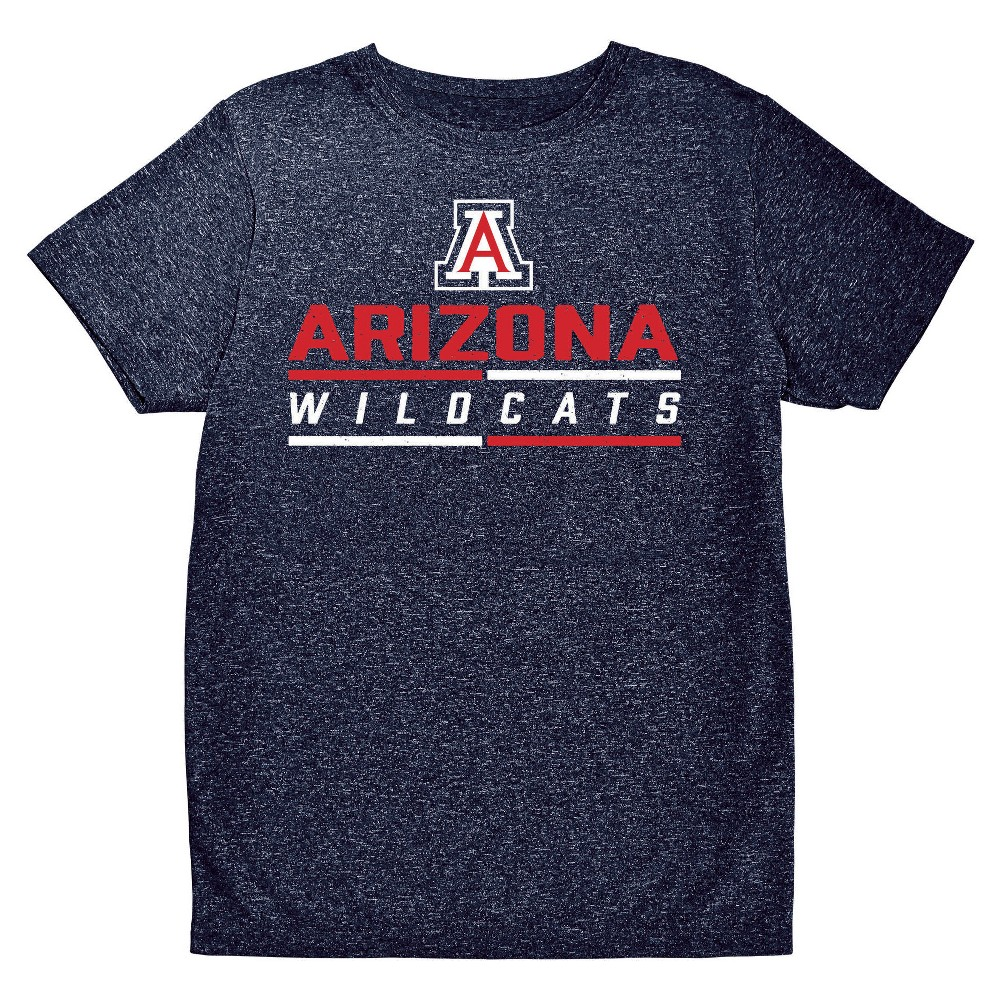 NCAA Boys' Hail Mary Bi-Blend Crew Neck T-Shirt Arizona Wildcats - S, Multicolored