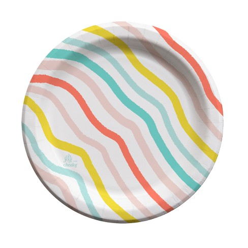 "Oh Joy! for Cheeky Rainbow Wave 9"" Paper Plates - 30ct - image 1 of 3"