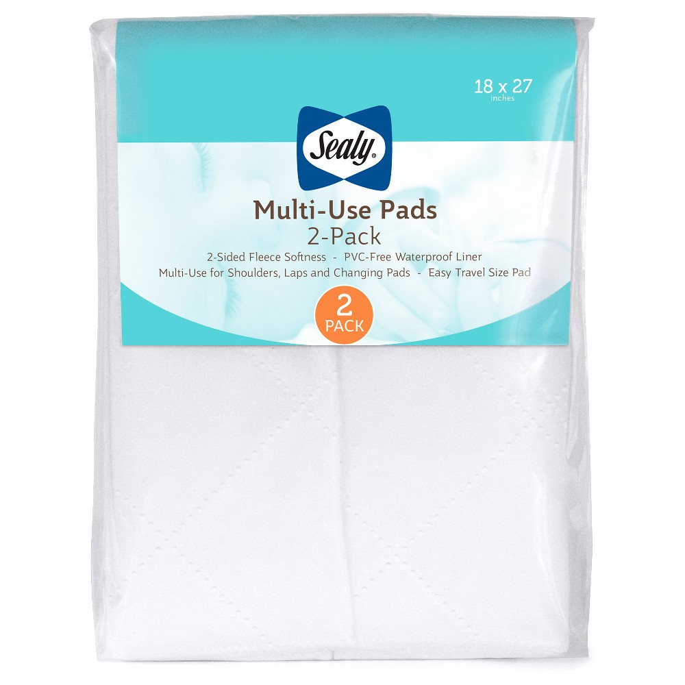 Image of Sealy Multi-Use Fleece Liner Pads with Waterproof Liner - 2pk, White