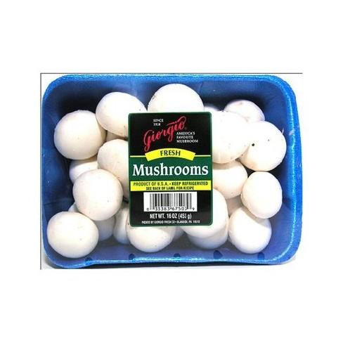 Whole White Mushrooms - 16oz Package