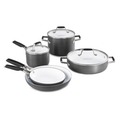 Select by Calphalon 8pc Hard Anodized Ceramic Nonstick Cookware Set