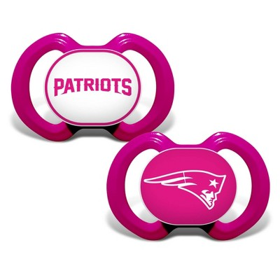 NFL New England Patriots Pink Pacifiers 2pk