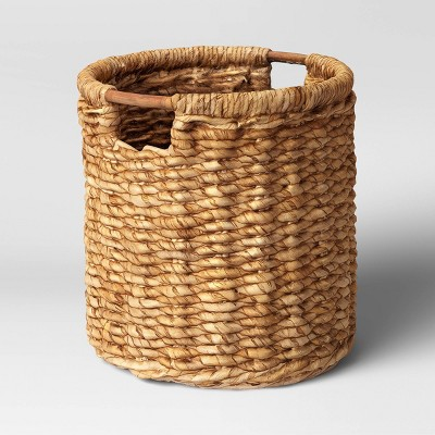 "16"" x 17"" Round Woven Basket with Cut-Off Handle - Threshold™"