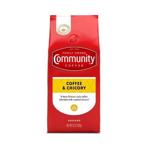 Community Coffee Coffee & Chicory Medium-Dark Roast Ground Coffee - 12oz - image 1 of 4
