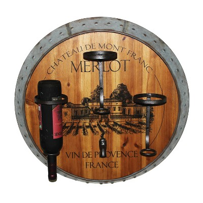 Wall Decor- Merlot Wine Holder - Home Source