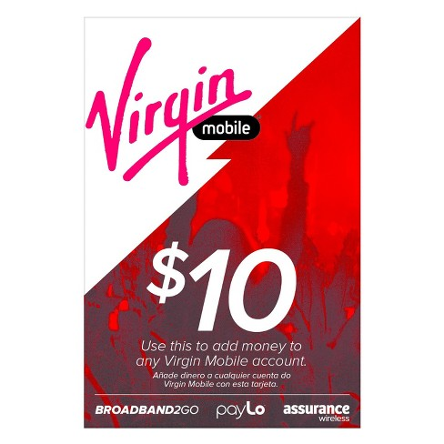 Virgin Mobile Prepaid Card Target