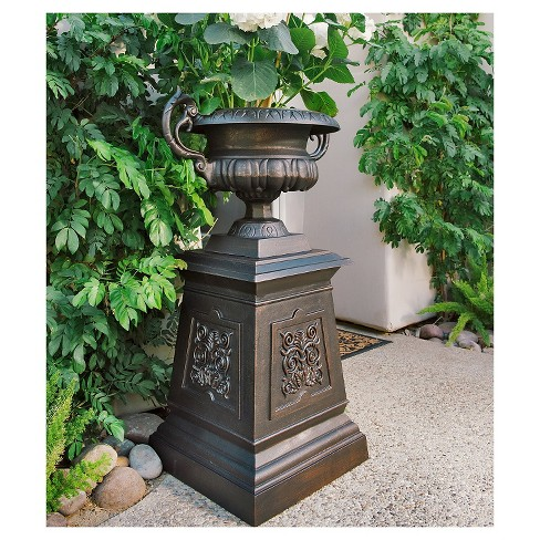 Urn Flower Planter - Bronze Cloud - Sunjoy - image 1 of 1