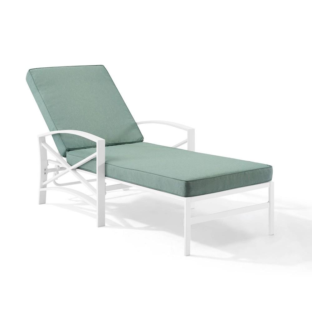Kaplan Chaise Lounge Chair White Crosley