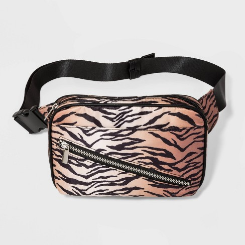Women's Zip Closure Fanny Pack - Wild Fable™ Black - image 1 of 4