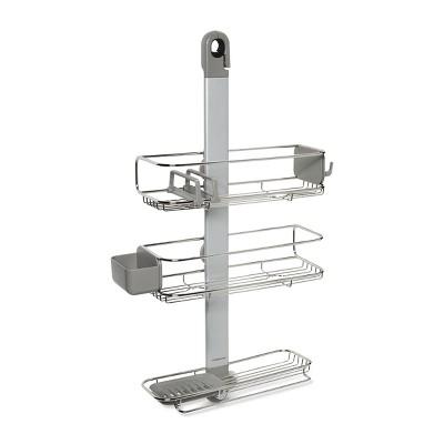 Adjustable Shower Caddy Plus Silver - simplehuman