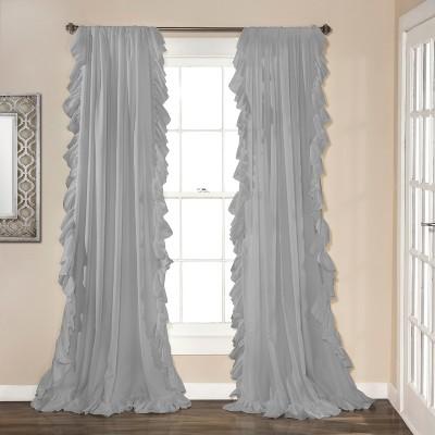 "84""x54"" Reyna Window Curtain Panels Light Gray - Lush Décor"
