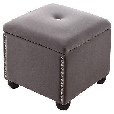 """Storage Bench with Seat 16.5"""" - Dove Gray - Ore International"""