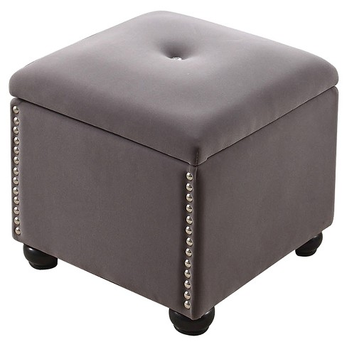"""Storage Bench with Seat 16.5"""" - Dove Gray - Ore International - image 1 of 4"""