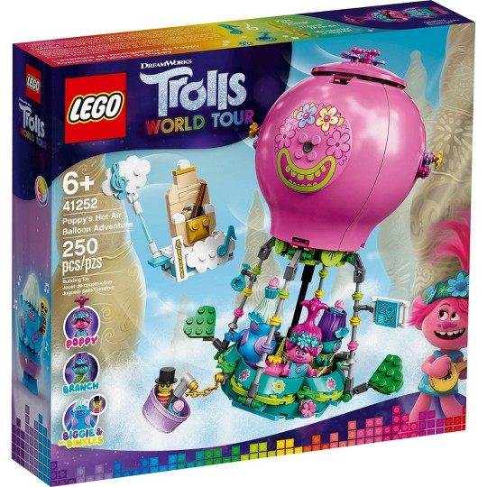 LEGO Trolls World Tour Poppy's Hot Air Balloon Adventure 41252 Building Kit image number null