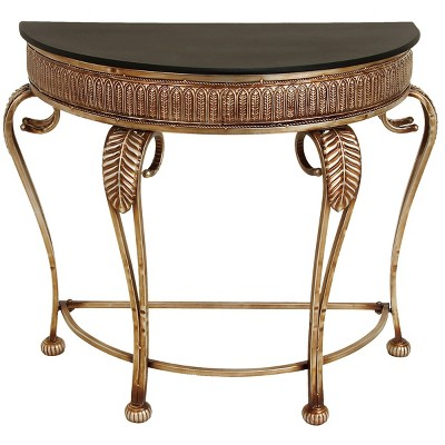 Traditional Metal Console Table Gold - Olivia & May