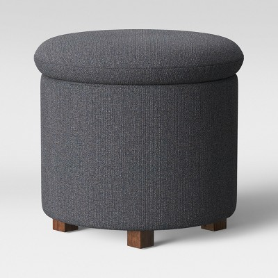 Pamona Round Ottoman Charcoal Heather - Project 62™