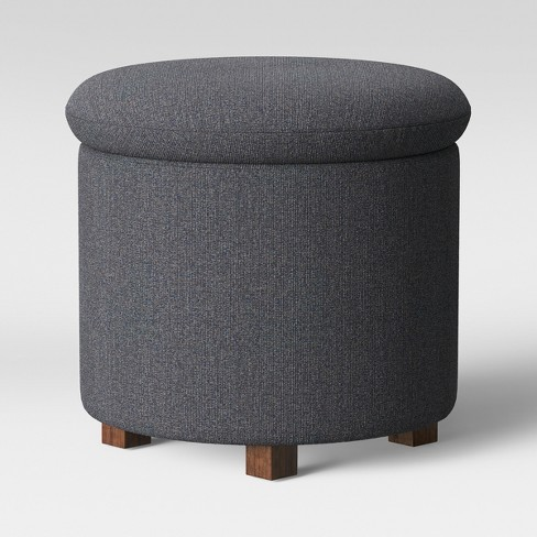 Brilliant Pamona Round Ottoman Charcoal Heather Project 62 Evergreenethics Interior Chair Design Evergreenethicsorg