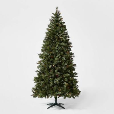 7.5ft Pre-lit Douglas Fir Artificial Christmas Tree AutoConnect Multicolored Lights - Wondershop™