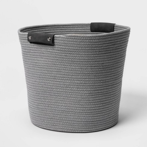17'' Coiled Rope Tapered Basket Gray - Threshold™ - image 1 of 4