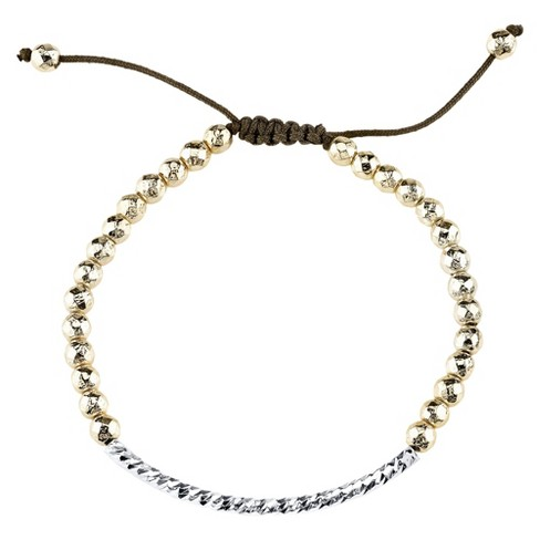 Silver Plated Adjustable Bar Bracelet - Gold - image 1 of 1