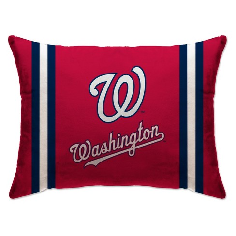 "MLB Washington Nationals 20""x26"" Team Logo Microplush Bed Pillow - image 1 of 1"