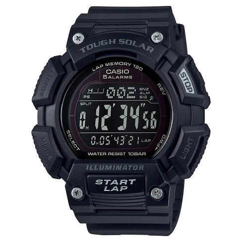 c530d4b80 Casio Men's Tough Solar Quartz Resin Sport Watch - Black. Shop all Casio